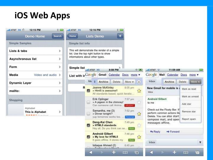 iOS Web Apps