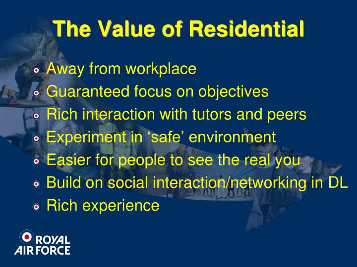 The Value of Residential