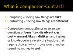 what is comparison contrast