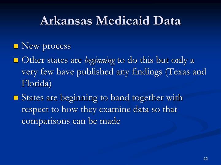 Arkansas Medicaid Data
