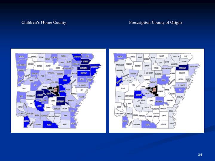 Children's Home CountyPrescription County of Origin