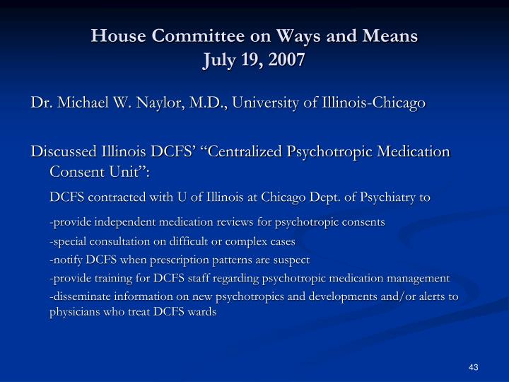 House Committee on Ways and Means