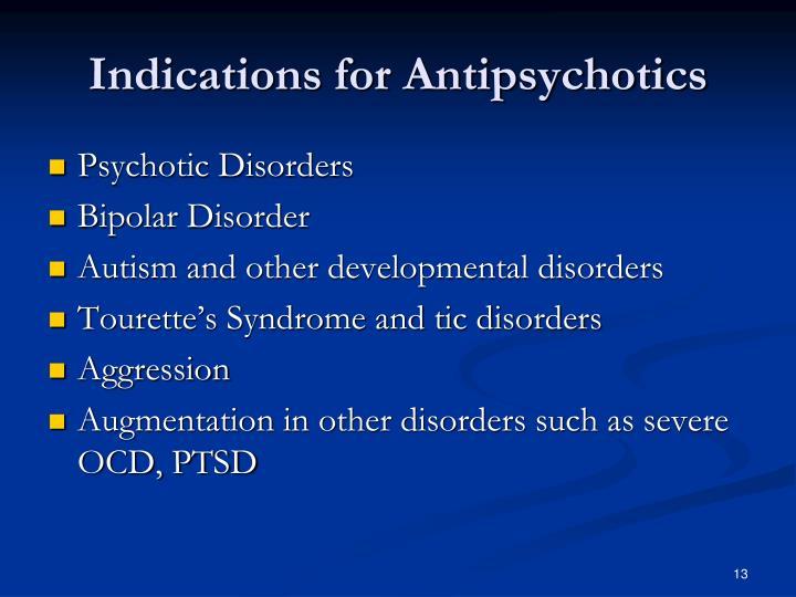 Indications for Antipsychotics