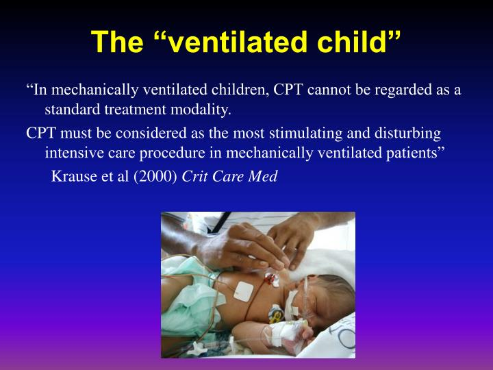 """The """"ventilated child"""""""