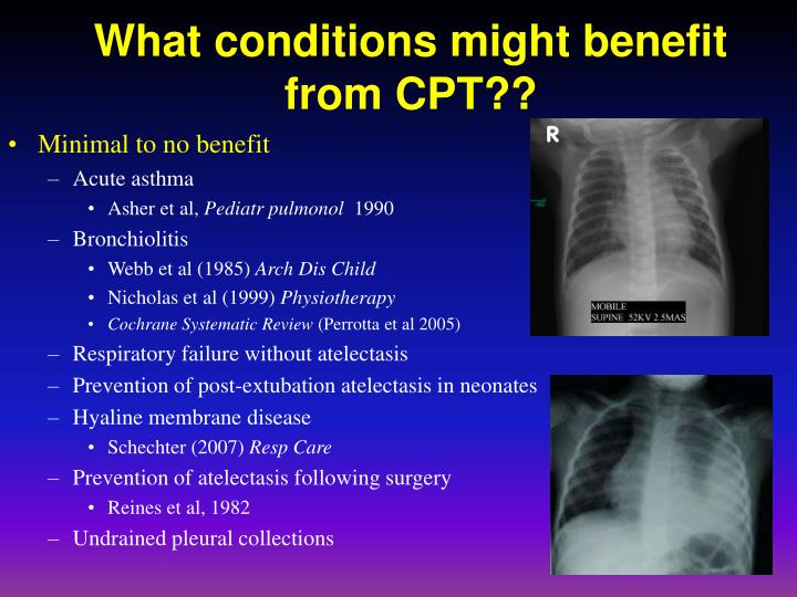 What conditions might benefit from CPT??
