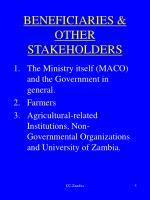 beneficiaries other stakeholders