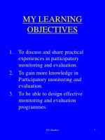 my learning objectives