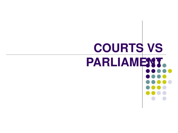 courts vs parliament n.