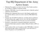 top hq department of the army active issues1