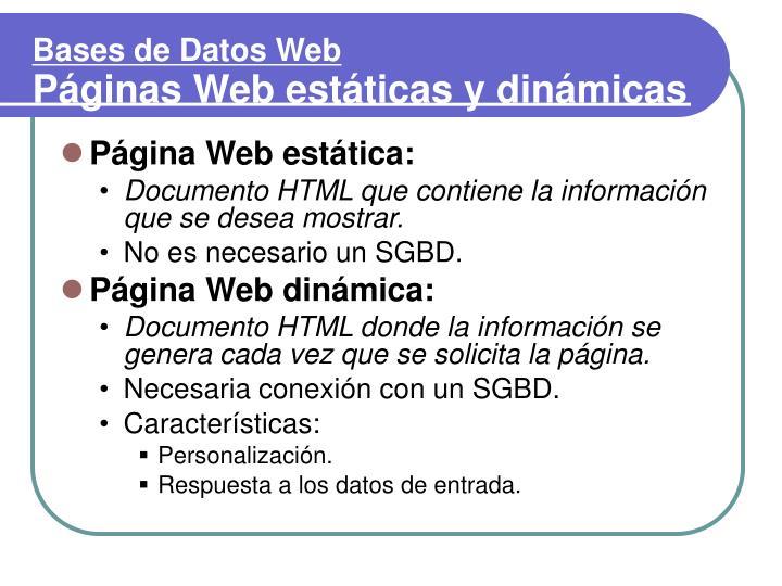 Página Web estática: