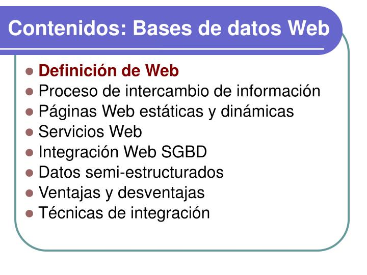 Contenidos bases de datos web1