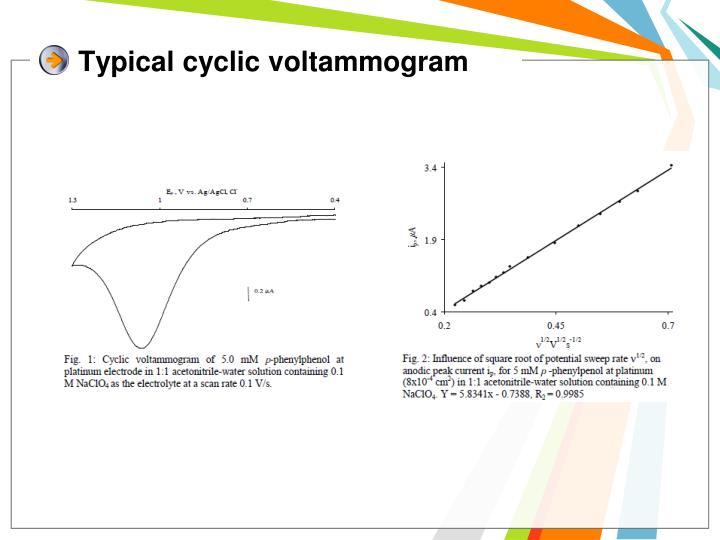 Typical cyclic voltammogram