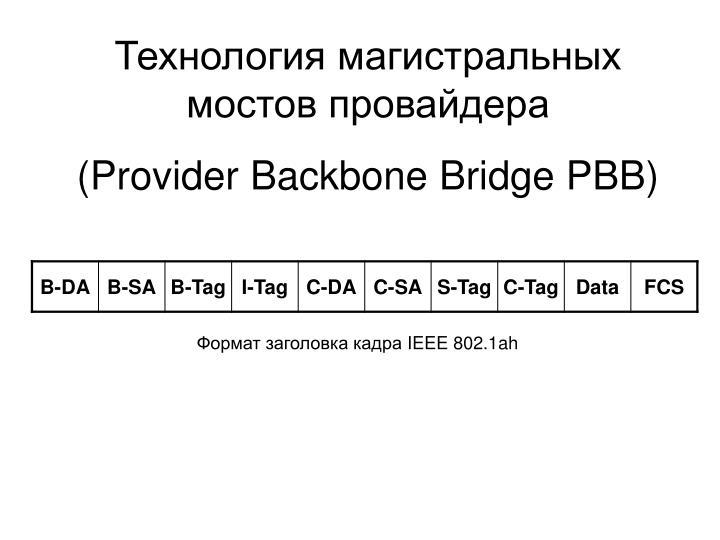 Технология магистральных мостов провайдера