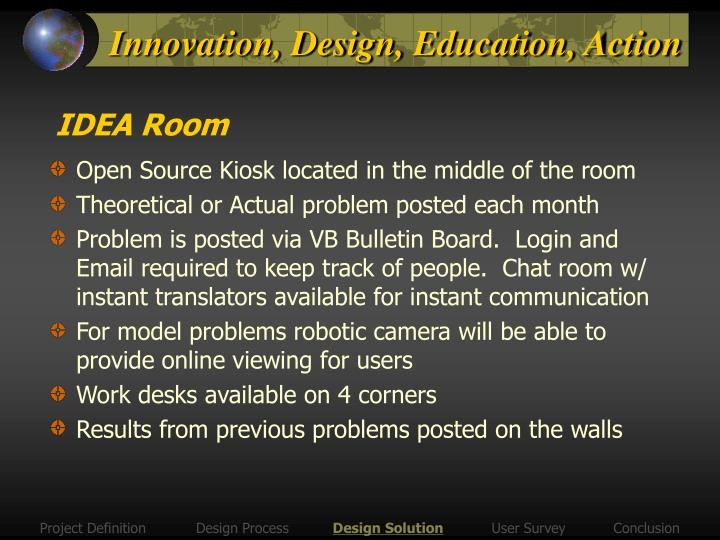 Innovation, Design, Education, Action