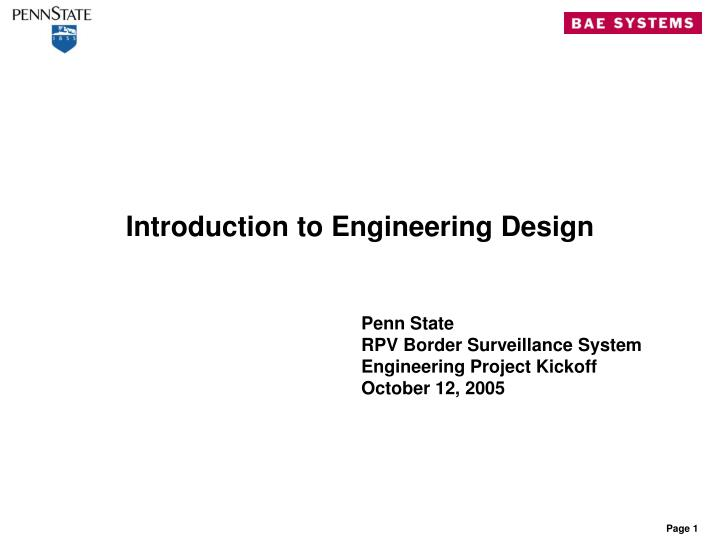 PPT - Introduction to Engineering Design PowerPoint Presentation