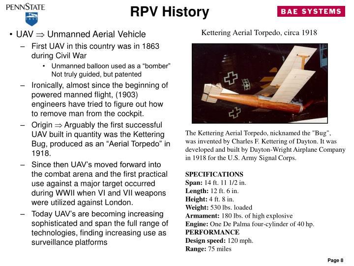 RPV History