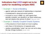 indications that kiss might not to be useful for modelling complex mas