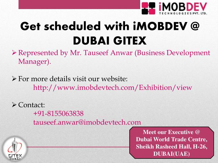 Get scheduled with iMOBDEV