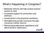 what s happening in congress