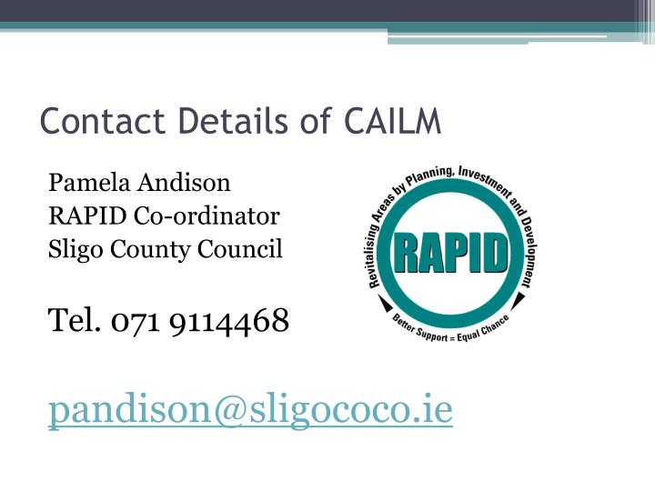 Contact Details of CAILM