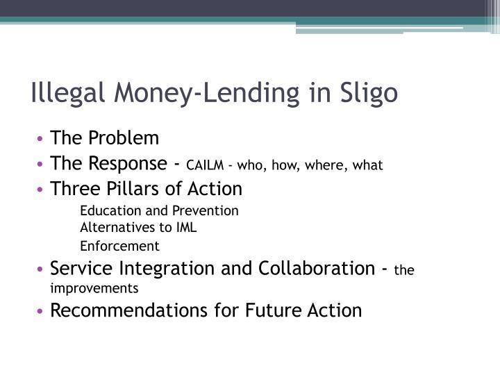 Illegal money lending in sligo1