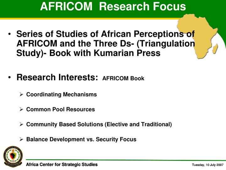 AFRICOM  Research Focus