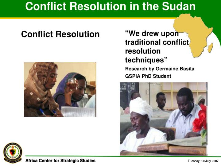 Conflict Resolution in the Sudan