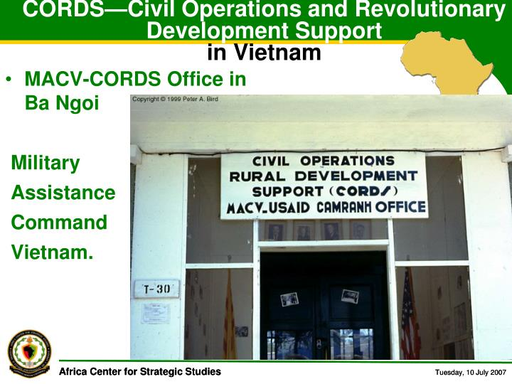 CORDS—Civil Operations and Revolutionary Development Support