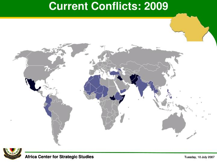 Current Conflicts: 2009