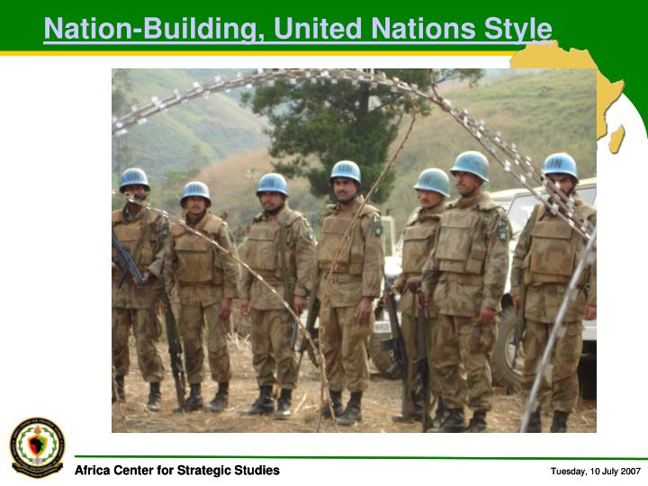 Nation-Building, United Nations Style