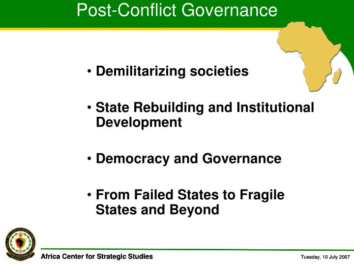 Post-Conflict Governance