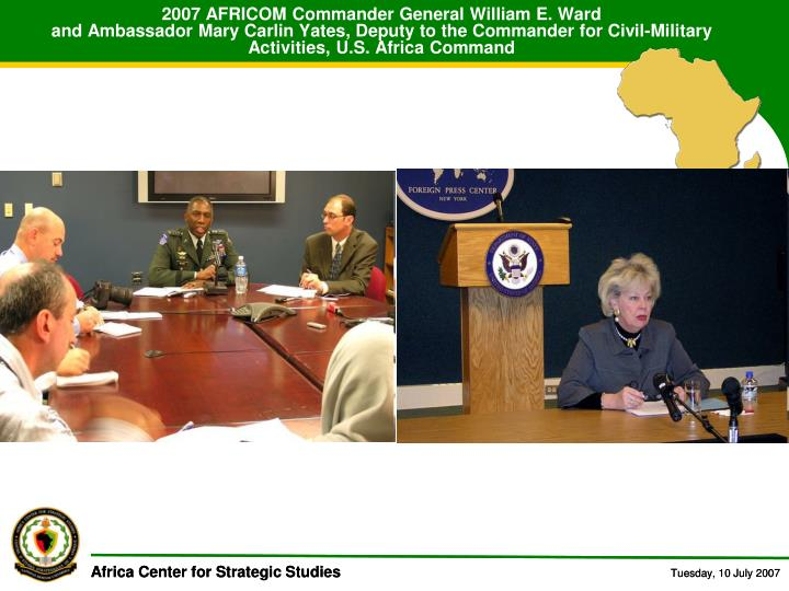 2007 AFRICOM Commander General William E. Ward