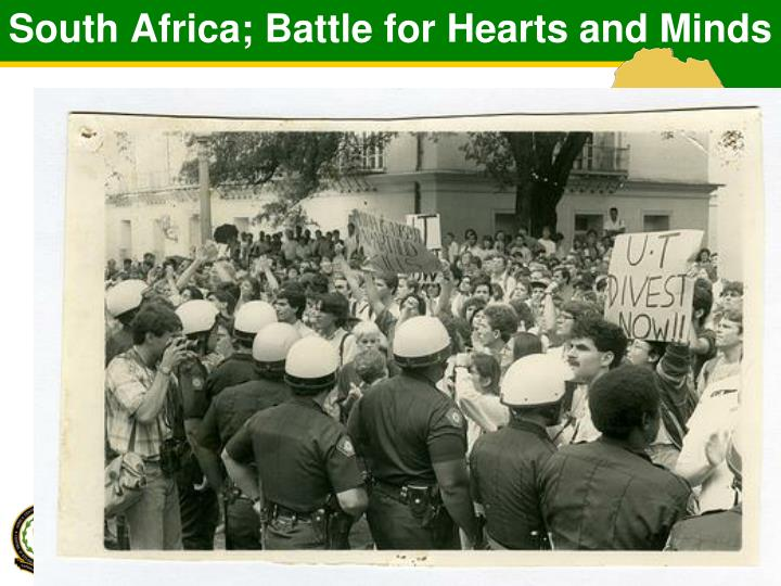 South Africa; Battle for Hearts and Minds