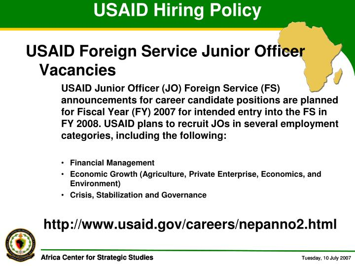 USAID Hiring Policy