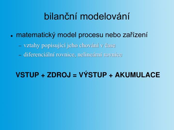 bilanční modelování
