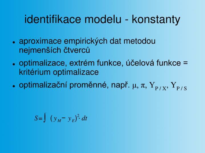 identifikace modelu - konstanty
