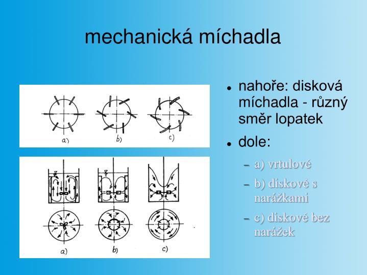mechanická míchadla