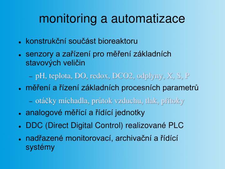 monitoring a automatizace