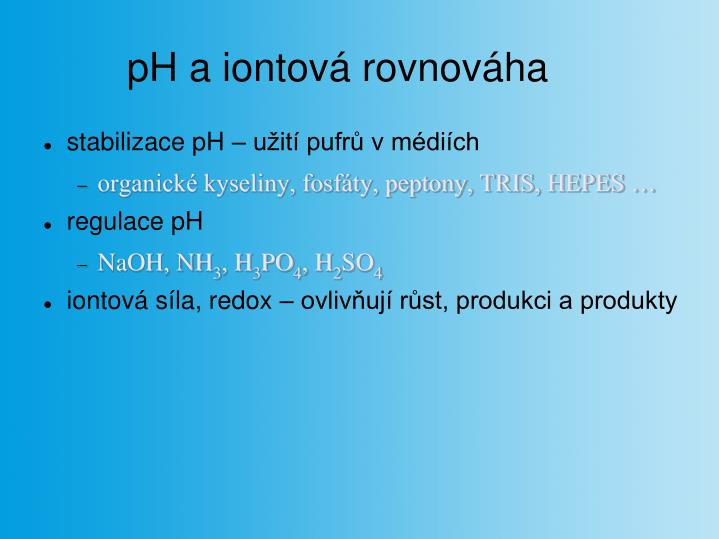 pH a iontová rovnováha