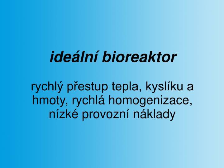 ideální bioreaktor