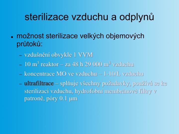sterilizace vzduchu a odplynů