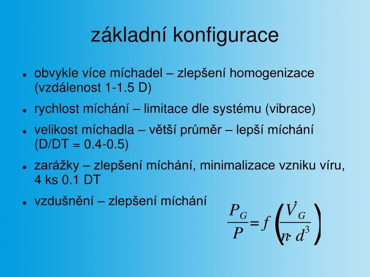 základní konfigurace