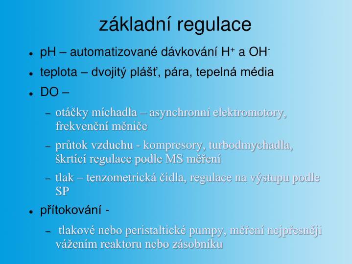 základní regulace