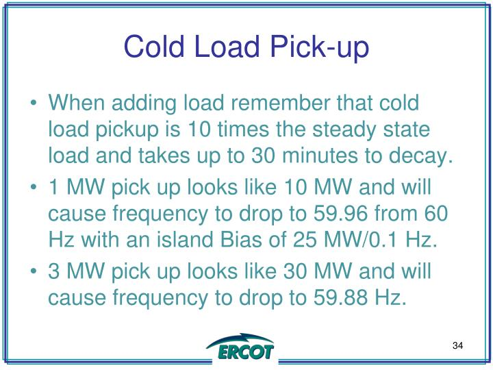 Cold Load Pick-up
