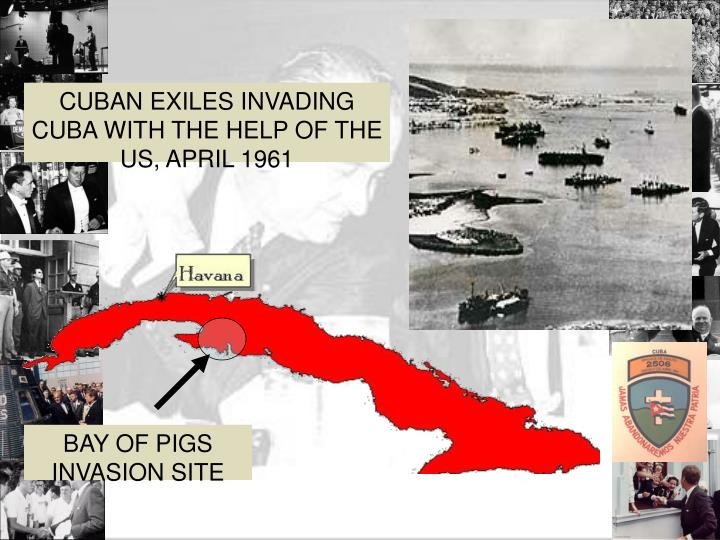 CUBAN EXILES INVADING CUBA WITH THE HELP OF THE US, APRIL 1961