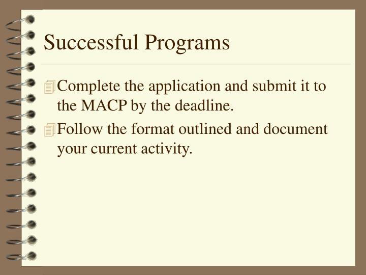 Successful Programs