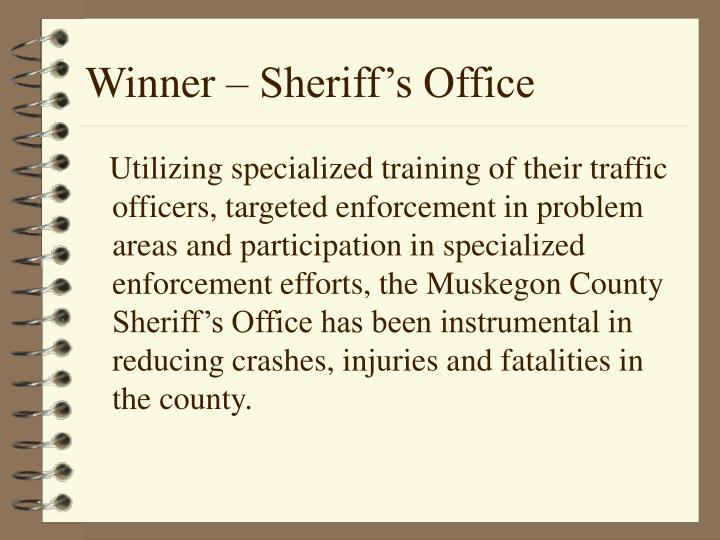 Winner – Sheriff's Office