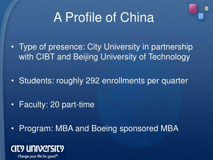 A Profile of China