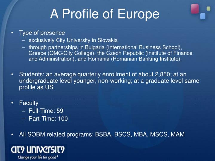 A Profile of Europe