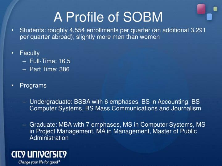 A Profile of SOBM